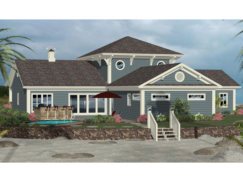 Cape Cod & New England House Plan Rear Photo 01 -  013D-0215 | House Plans and More