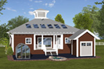 Craftsman House Plan Rear Photo 01 - 013D-0216 | House Plans and More