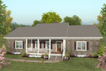 Ranch House Plan Front of House 013D-0217