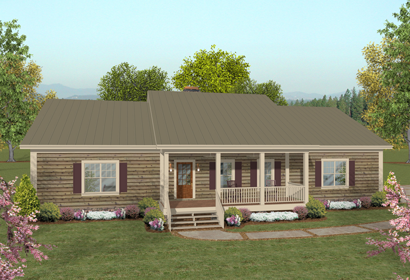 Cabin & Cottage House Plan Front of Home - 013D-0218   House Plans and More