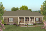 Country House Plan Front of House 013D-0218