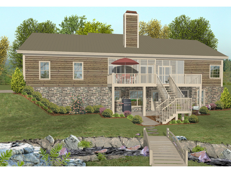 Cabin & Cottage House Plan Rear Photo 01 - 013D-0218   House Plans and More