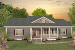 Cabin & Cottage House Plan Front of House 013D-0219