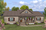 Cabin & Cottage House Plan Front of House 013D-0220