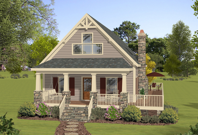 Vacation House Plan Front of Home - 013D-0221 | House Plans and More