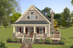 Vacation House Plan Front of House 013D-0221