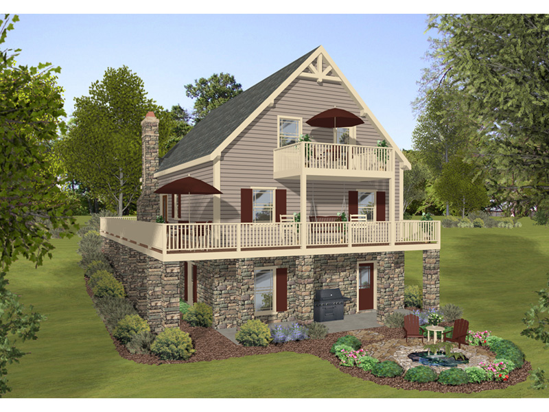 Vacation House Plan Rear Photo 01 - 013D-0221 | House Plans and More