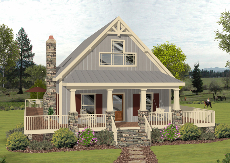 Arts & Crafts House Plan Front of Home - 013D-0222 | House Plans and More