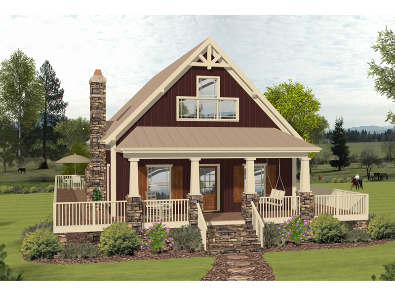 Arts & Crafts House Plan Front Photo 01 - 013D-0222 | House Plans and More