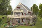 Arts & Crafts House Plan Rear Photo 01 - 013D-0222 | House Plans and More