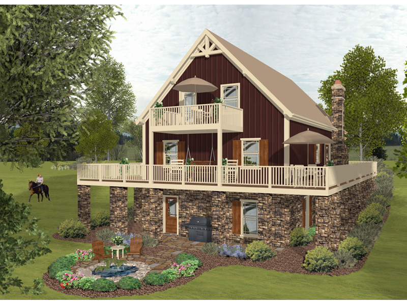 Arts & Crafts House Plan Rear Photo 02 - 013D-0222 | House Plans and More
