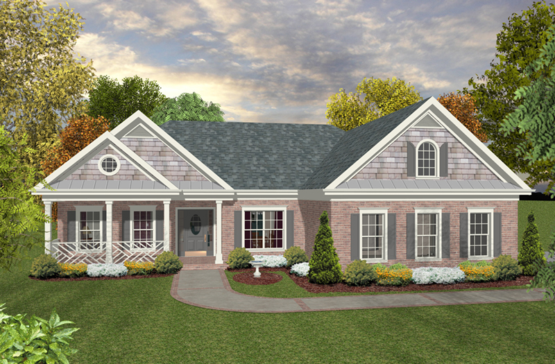 Front of Home - 013D-0224 | House Plans and More