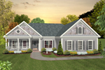 Country French House Plan Front of House 013D-0226