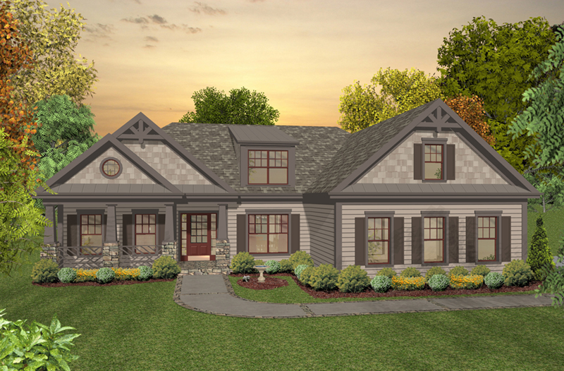 Craftsman House Plan Front of Home - 013D-0227   House Plans and More