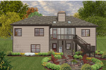 Craftsman House Plan Rear Photo 01 - 013D-0227   House Plans and More