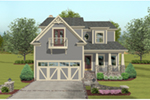 Tudor House Plan Front of House 013D-0234