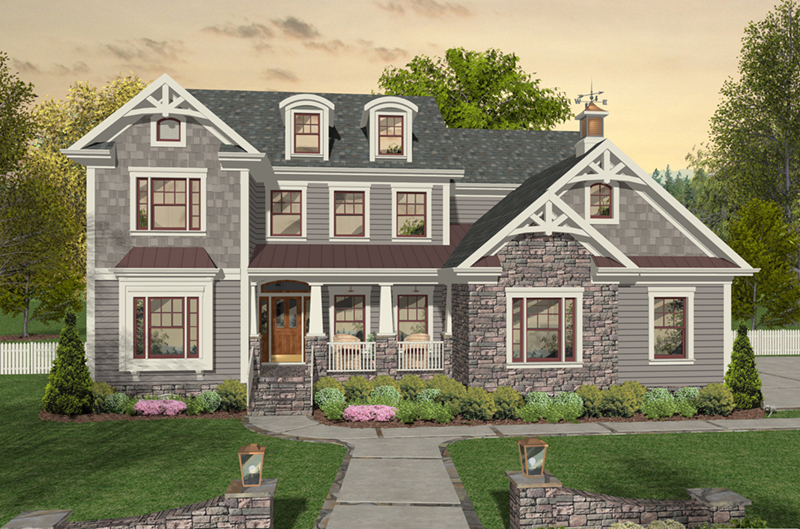 Ranch House Plan Front of Home - 013D-0242 | House Plans and More