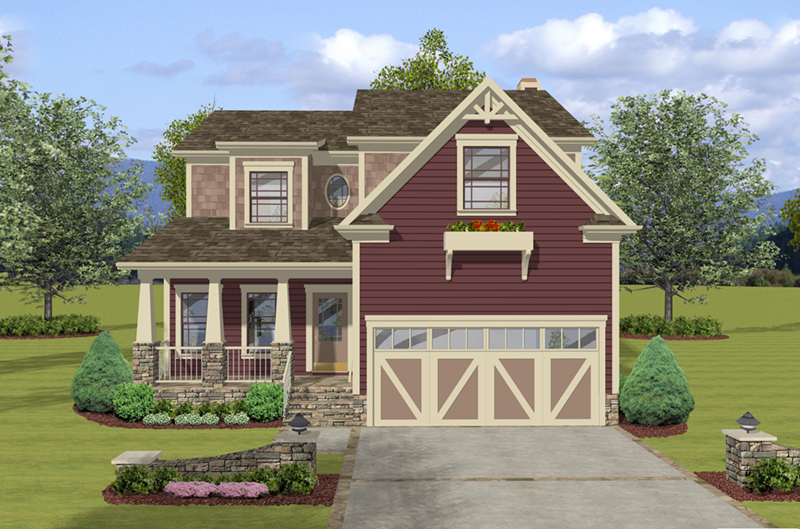 Craftsman House Plan Front of Home - 013D-0249 | House Plans and More