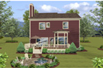 Craftsman House Plan Rear Photo 01 - 013D-0249 | House Plans and More