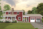 Country House Plan Rear Photo 01 - 013D-0250 | House Plans and More