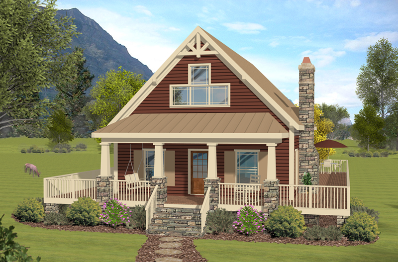 Bungalow House Plan Front of Home - 013D-0252 | House Plans and More