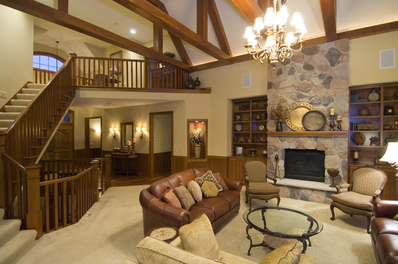 Traditional House Plan Great Room Photo 01 - Winborn Luxury Home 013S-0001 | House Plans and More