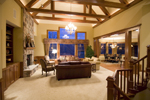 Traditional House Plan Great Room Photo 02 - Winborn Luxury Home 013S-0001 | House Plans and More