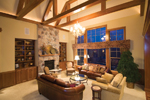 Traditional House Plan Living Room Photo 02 - Winborn Luxury Home 013S-0001 | House Plans and More