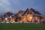 Tudor House Plan Front of Home - Watson Manor Luxury Home 013S-0002 | House Plans and More
