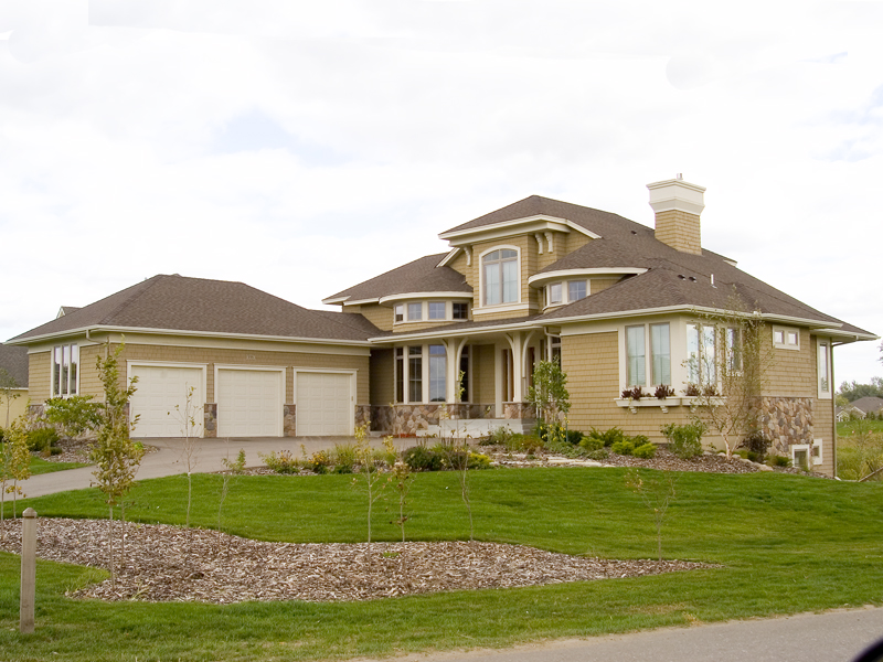 Prairie Style Floor Plan Front of Home - Warsaw Luxury Home 013S-0003 | House Plans and More
