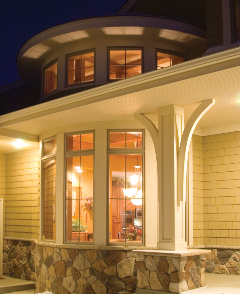 Prairie Style Floor Plan Window Detail Photo - Warsaw Luxury Home 013S-0003 | House Plans and More