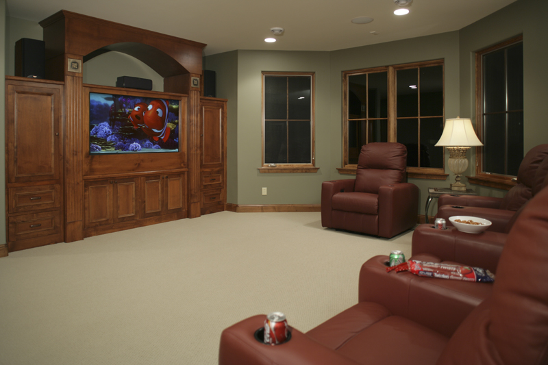 Prairie Style Floor Plan Theater Room Photo 01 - Ingrams Mill Luxury Home 013S-0004 | House Plans and More