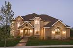 Craftsman House Plan Front of Home - Waterstone Luxury Home 013S-0009   House Plans and More