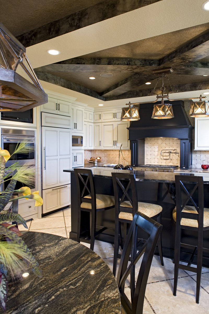Luxury House Plan Kitchen Photo 04 - Big Stone Ridge Craftsman Home 013S-0012 | House Plans and More