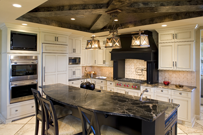 Luxury House Plan Kitchen Photo 05 - Big Stone Ridge Craftsman Home 013S-0012 | House Plans and More