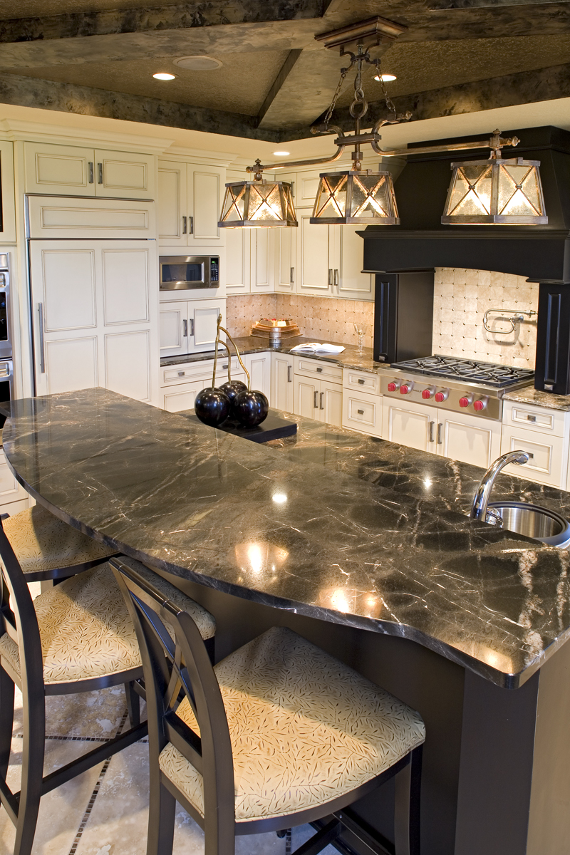 Luxury House Plan Kitchen Photo 07 - Big Stone Ridge Craftsman Home 013S-0012 | House Plans and More