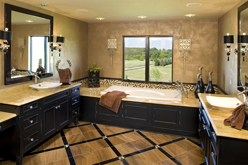Luxury House Plan Master Bathroom Photo 01 - Big Stone Ridge Craftsman Home 013S-0012 | House Plans and More