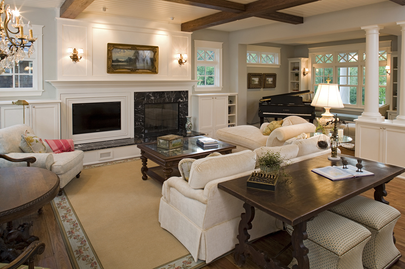 Luxury House Plan Living Room Photo 01 - Avalon Place Luxury Home 013S-0014 | House Plans and More