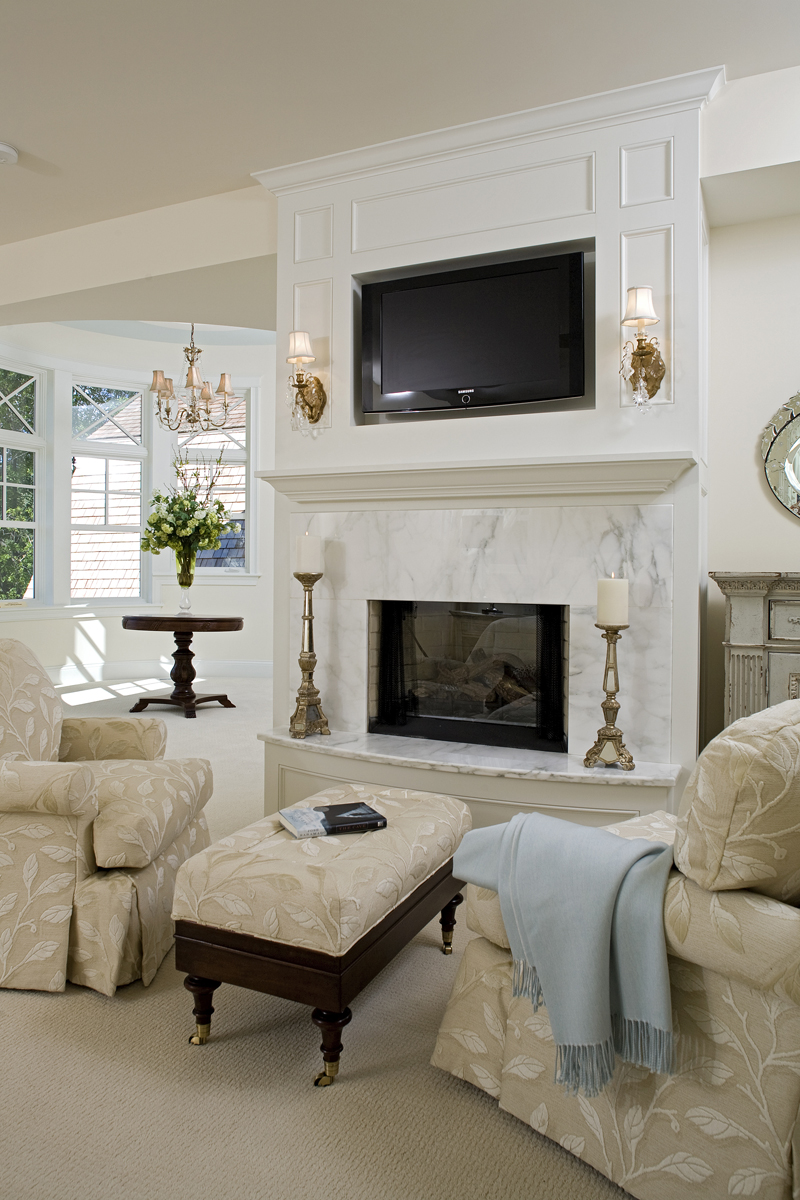 Luxury House Plan Living Room Photo 02 - Avalon Place Luxury Home 013S-0014 | House Plans and More