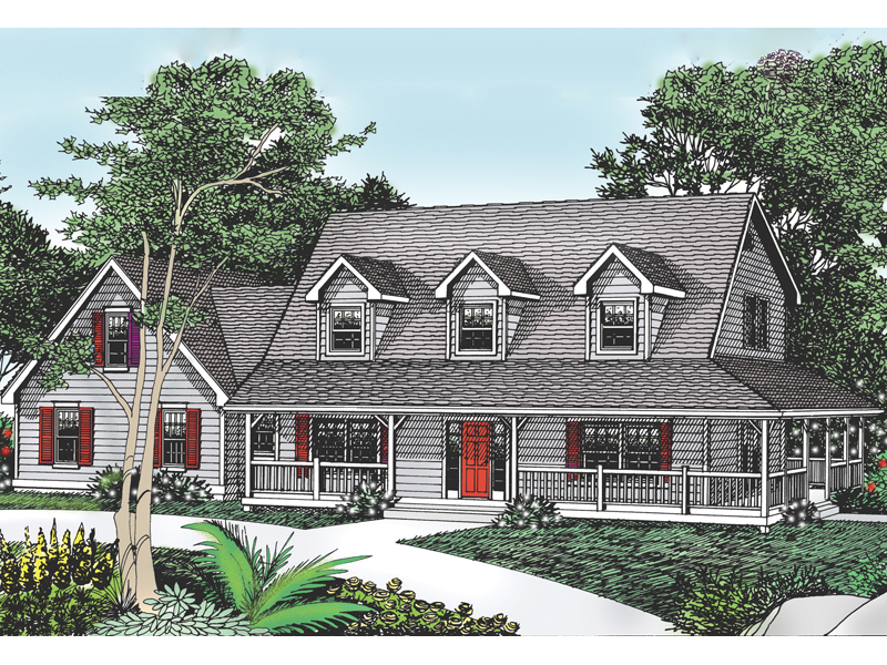 Cottage Hill Cape Cod Style Home Plan 015D-0045 | House Plans and More