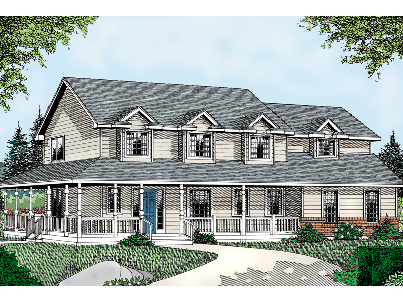 015D 0106 front main 8 - Download House Plans Two Story Farmhouse  PNG