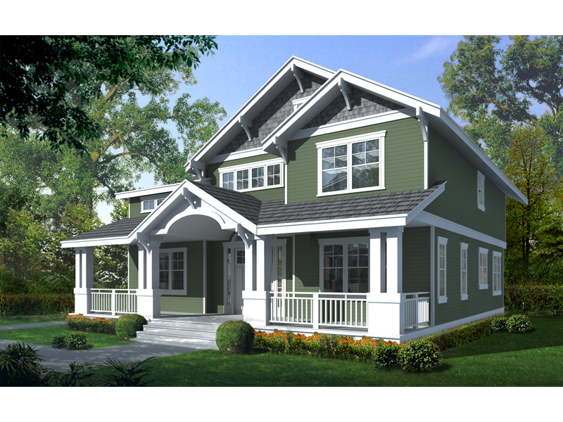 Carters Hill Craftsman Home Plan 015D-0208 | House Plans and ... on