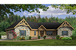 Country House Plan Front of House 016D-0105