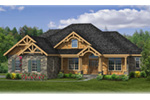 Craftsman House Plan Front of House 016D-0106