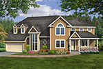 Traditional House Plan Front of House 016D-0114