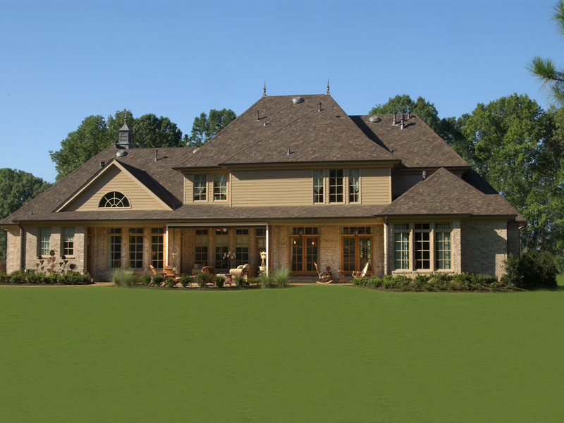 European House Plan Rear Photo 01 - Darby Hill European Style Home 019S-0003 | House Plans and More