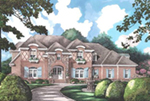 English Cottage House Plan Front of House 019S-0049