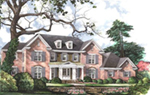 Traditional House Plan Front of House 019S-0051