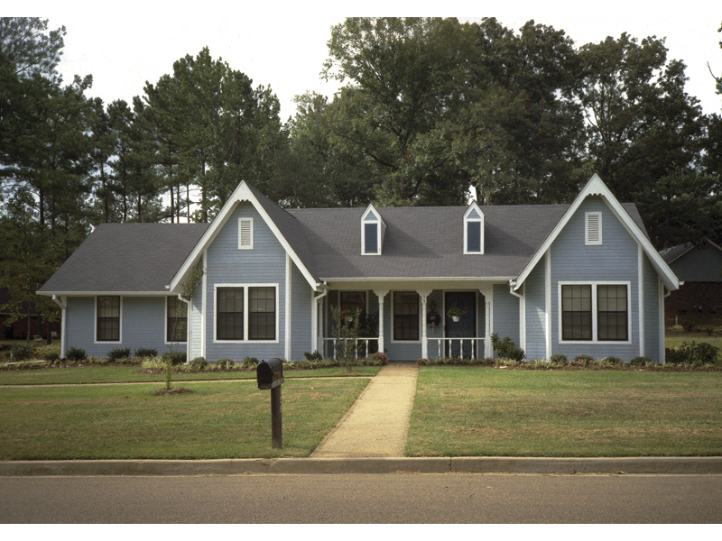 Steep Gables Enhance This Country Ranch Appeal