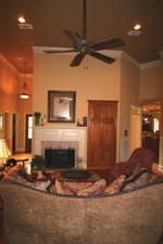 Ranch House Plan Living Room Photo 02 - Pleasant Hill Ranch Home 020D-0295 | House Plans and More